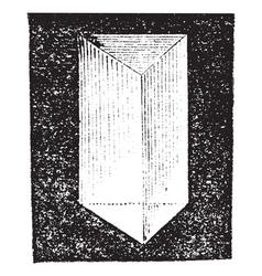 Optical prism vintage engraving vector