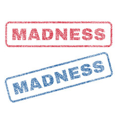 Madness textile stamps vector