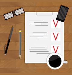 checklist plan and organization vector image