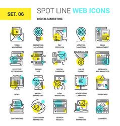 digital marketing icons vector image