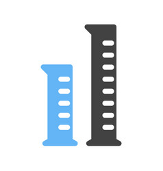 graduated cylinders vector image