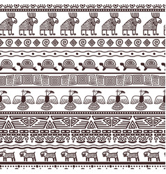 Ethnic aztecs or peruvian pattern template vector
