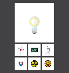 Flat icon knowledge set of attractive force glass vector