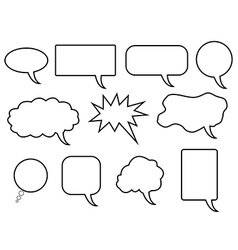 Speech bubles vector