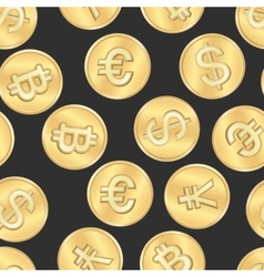 Seamless money payment coins pattern vector
