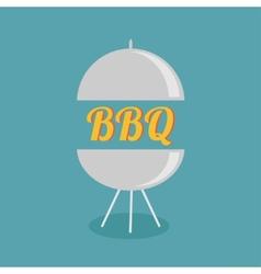 BBQ grill party invitation card Flat design icon vector image