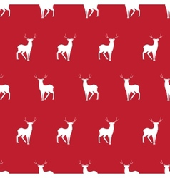 Red deer minimalistic silhouette seamless pattern vector