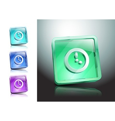 clock time timer watch icon vector image