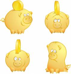 piggies vector image