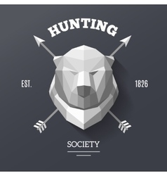 Bear hunting society vector