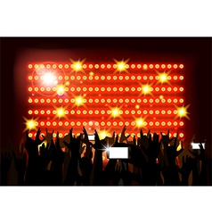 Background crowd of party people vector