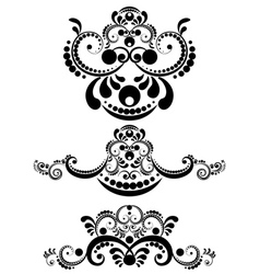Decorative Floral Ornament11 vector image