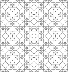 Seamless pattern of delicate lines on white vector image