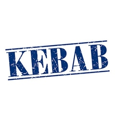 Kebab blue grunge vintage stamp isolated on white vector