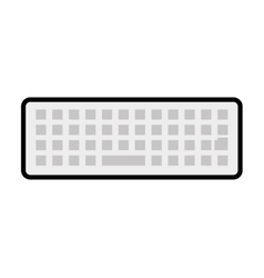 Keyboard icon gadget and technology design vector