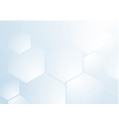 abstract repeating hexagonal shape on blue and vector image