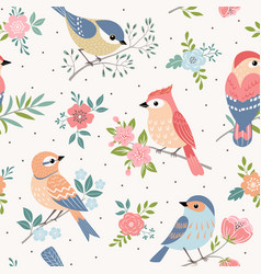 bird pastel pattern vector image
