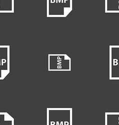Bmp icon sign seamless pattern on a gray vector