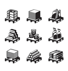 Building and construction materials vector image