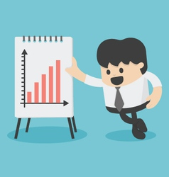 Businessman Presenting Growth Chart vector image vector image