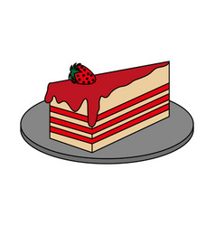 Cake pastry icon image vector