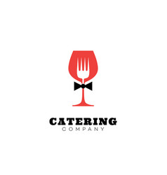catering company logo vector image vector image