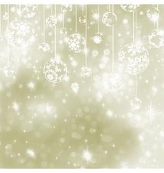 Christmas Elegant Baubles Background vector image vector image