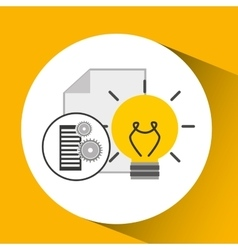 Database setting document idea creativity vector