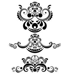 Decorative Floral Ornament11 vector image vector image