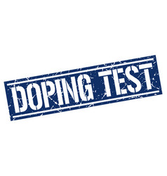 Doping test square grunge stamp vector