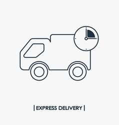 Express delivery outline icon fast shipping vector