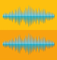 Flat stereo music wave icon vector
