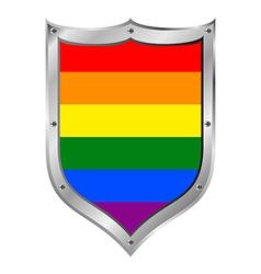 Gay flag button vector