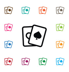 Isolated spades icon ace element can be vector