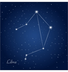 Libra constellation zodiac vector