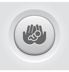 Life Care Icon Grey Button Design vector image vector image