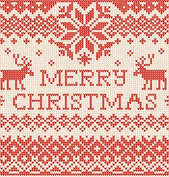Merry christmas scandinavian or russian style vector