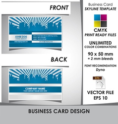 Modern Business Card Skyline Template vector image vector image