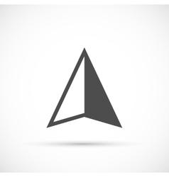 Navigation arrow icon vector
