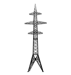 power transmission tower vector image vector image