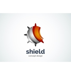 Round shield logo template security or safe vector
