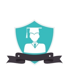School emblem isolated icon vector