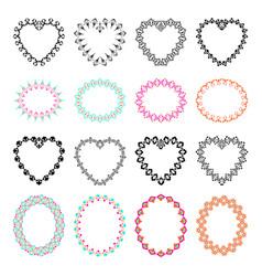 set of decorative frames for design vector image vector image