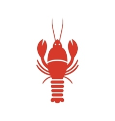 Simple web icon in marine animals vector image