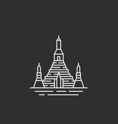 Thailand landmark in outline style vector
