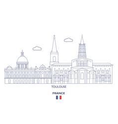 Toulouse city skyline vector