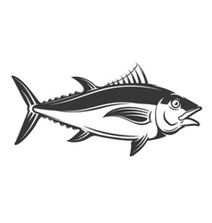 tuna icon isolated on white background vector image vector image