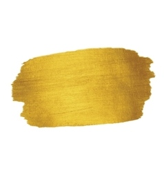 Gold Texture Brush stroke design element vector image