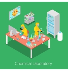 Isometric chemical research laboratory vector
