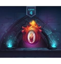 Arch magic eldiablo in next 4th level vector